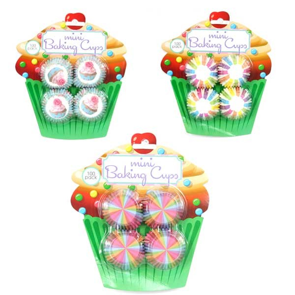 Baking Cups - 100Count Set Assorted Style Baking Cups - 36 Sets For $24.48
