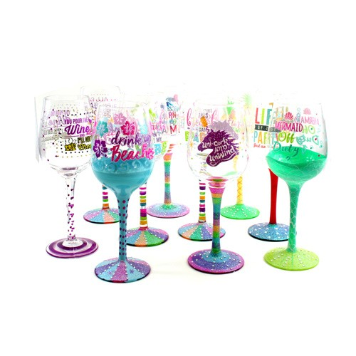 Assorted Wine Glasses - Attitude Style Wine Glasses Totally Assorted - 24 For $60.00