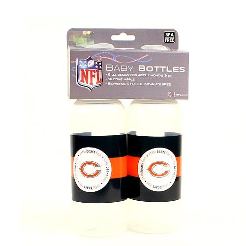 Overstock - Chicago Bears Baby Bottles - 2Pack Bottles - 12 Sets For $48.00