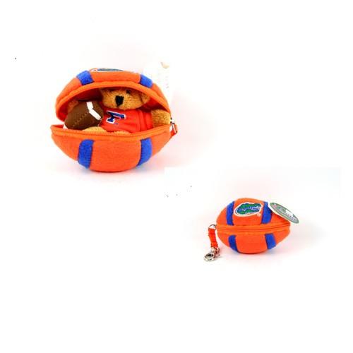 Florida Gators Keychain - Plush In Plush Football Style - 12 For $24.00