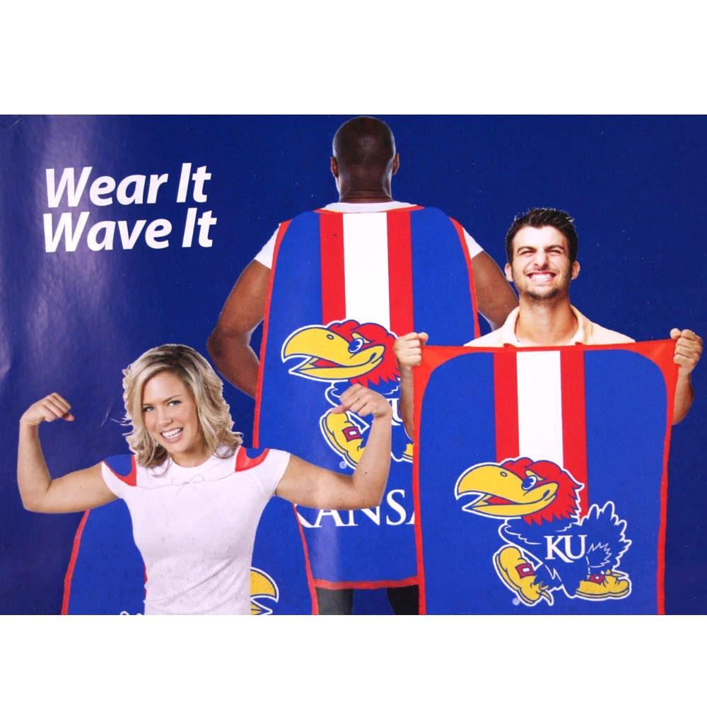"""Opportunity Buy - Kansas Jayhawks Flags - 36""""x47"""" Fan Flags - 2 For $12.00"""