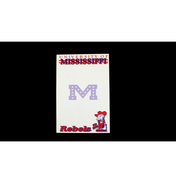 """Ole Miss Notepads - 5""""x8"""" - 40 Sheets Per Pad - 24 PadsFor $12.00"""