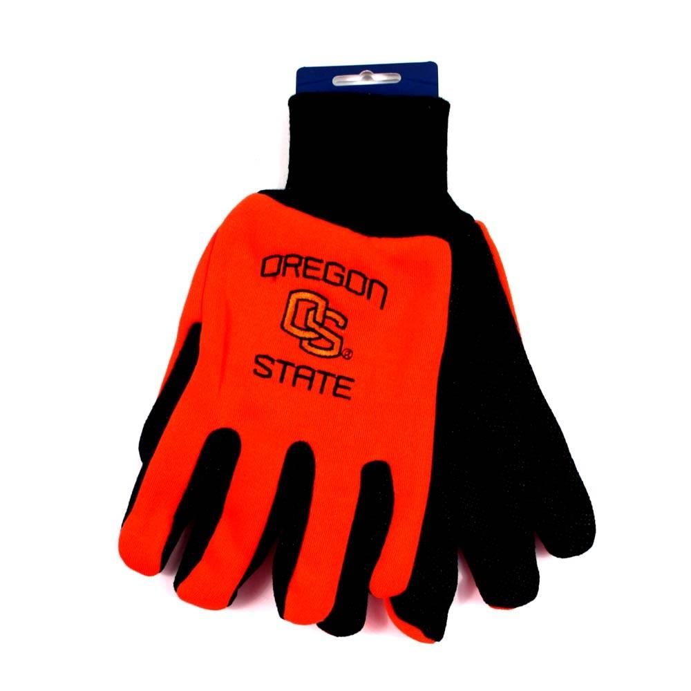 Overstock - Oregon State Beavers Gloves - OS Linked Logo - 2Tone Orange.Black - 12 Pair For $30.00