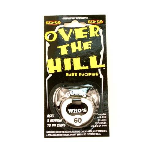 Over The Hill 60 Pacifiers - Sixty Years Old - 12 For $12.00
