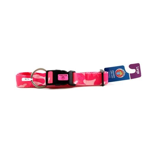 Pets - Hamilton Pet Collar - Pink Camo - Adjustable Neck Range - Assorted Sizes - 48 For $28.80