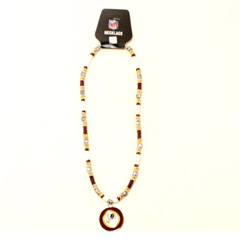 """Washington Redskins Necklace - 18"""" Natural Shell With Pendant - $7.50 Each"""