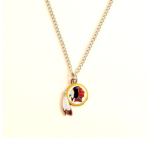 Washington Redskins Necklace - AMCO Metal Chain and Pendant - $3.00
