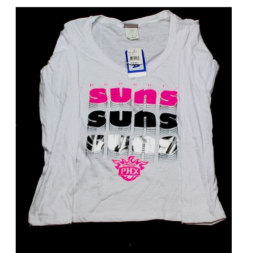 Phoenix Suns Shirt - White Long Sleeve Repeater Shirt - Assorted Sizes - 12 For $60.00