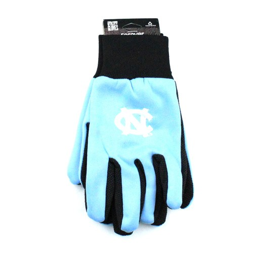 UNC Tarheels Gloves - Black Palm Series - Grip Gloves - (Pattern May Be Different Than Pictured) - $3.50 Per Pair