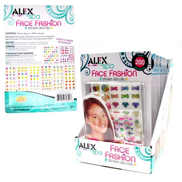 Alex Spa - Face Fashion Decal Sets - 20 Sets For $20.00