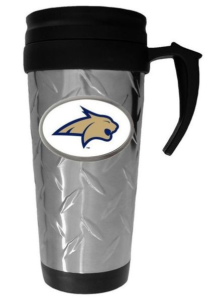Wholesale Travel Mugs - Montana State Mugs - Diamond Plate Style - $6.50 Each