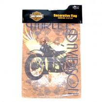 "Harley Flags - 12""x18"" Vintage Bike Garden Size - Brown Motor Wings Style - $5.00 Each"