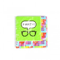 Party Napkins - 16Count Packs - Nerd Party - Green Blocked Style - 36 Packs For $23.40