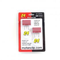 NASCAR Merchandise - #24 Jeff Gordon - 2Pack Fan Clip Sets - 24 Sets For $12.00