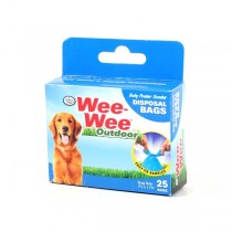 25Count Box WeeWee Bags - Pet Pickup Bags - 36 Boxes For $23.40