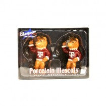 Texas A&M Ornaments - 2Pc Set - Mascot Series - 6 Sets For $18.00