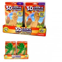 Cookie Cutters - Assorted DINO Designs - 3D Cookie Cutters - 24 For $24.00