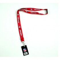 San Francisco 49ers Lanyards - SoftTouch - Red Lanyard With Neck Release - 12 For $30.00