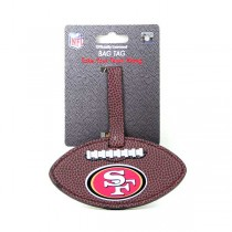 Wholesale 49ers Merchandise - Football Style Luggage Tags - 2 For $6.00