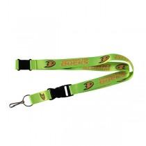 Anaheim Ducks Lanyards - Premium 2-Sided FULL Neon - 12 For $24.00