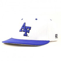 Total Closeout - Air Force Hats - NCAA Hats - White Hat With AF Blue Logo - 12 Hats For $30.00