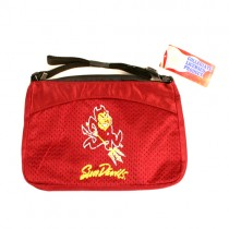 Closeout - Arizona State Merchandise - Sparky Logo - SQUARE Cocktail Jersey Purses - 4 Purses For $20.00