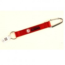 "Alabama Key Chains - (Pattern May Be Different Than Pictured) - 8"" Carabiner Style - 12 For $24.00"