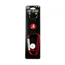 "Alabama University Keychain - 6"" Navi-Biner Style Keychain With Compass - 12 For $24.00"