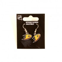 Anaheim Ducks Earrings - Classic Amco Style Dangle - 12 Pair For $30.00