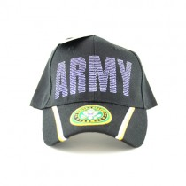 United States Army Caps - Army Script Hat With Seal Logo Bill - $3.50 Each