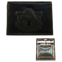 Auburn Tigers Wallets - Black Tri-Fold Leather Wallets - $7.50 Each