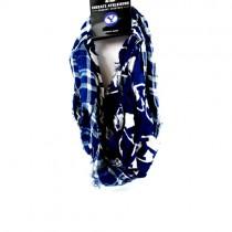 BYU Scarves - Tartan Logo Infinity Scarves - 2 For $15.00