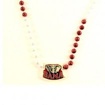 Crimson Tide Beads - Alabama InlineBK Style Beads - 12 For $30.00