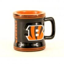 Cincinnati Bengals Shotglass -(May Be Different Pattern Then Pictured) - 2OZ Sculpted Mug - 12 Shotglasses For $39.00