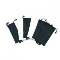 Total Blowout - Black And Gray Assorted Microfiber Sunglass Drawstring Bags - 120 Bags For $30.00