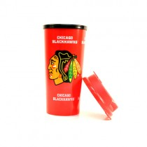 Chicago Blackhawks Travel Mugs - 16OZ Insulated Plastic - MADE IN THE USA - $5.00 Each