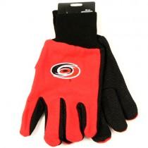 Overstock - Carolina Hurricanes Gloves - NHL Gloves - 2Tone Black/Red Grip NHL Gloves - 12 Pair For $30.00