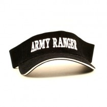 Wholesale Visors - Black Army Ranger Visors - 12 For $18.00