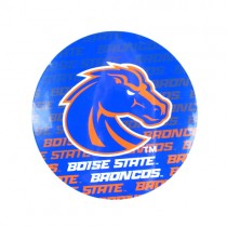 """Boise State Magnets - 4"""" Round Wordmark Style - 12 For $12.00"""
