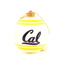 Cal Bearcats Ornaments - Striped Ball Ornaments - 12 For $24.00