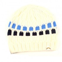 Overstock - Los Angeles Chargers Beanies - White With The DOTS - 12 For $60.00