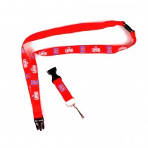 Los Angeles Clippers Lanyards - Red With Neck Release - 12 For $27.00