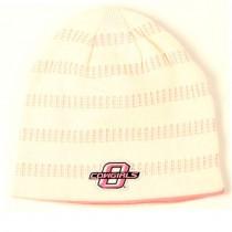 OSU Cowboys - Pink/White Striped Beanies - Oklahoma State University - $5.00 Each