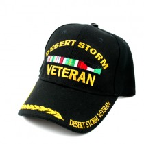 Desert Storm Caps - Black Veteran Bar Style - 12 For $30.00