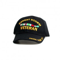 Desert Storm Veteran Hats - Bar Style Hat With Script Bill - $3.50 Each