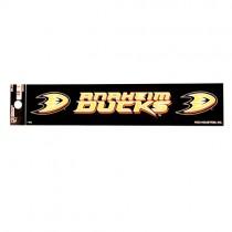 "Anaheim Ducks Bumper Stickers - 2""x10"" R Style - 12 For $12.00"