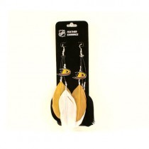 Closeout - Anaheim Ducks Merchandise - Feather Earrings - 12 Pair For $24.00