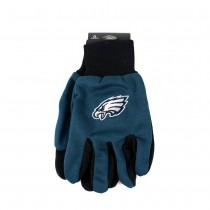 Philadelphia Eagles Gloves - (Pattern May Be Different Than Pictured) - Black Palm Series - 12 Pair For $36.00