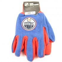 Edmonton Oilers Gloves - 2Tone Grip Gloves $3.50 Per Pair