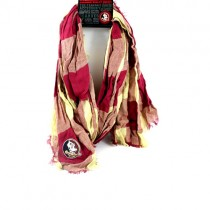 Florida State Seminoles Infinity Scarves - Buffalo Check Style - 2 For $15.00
